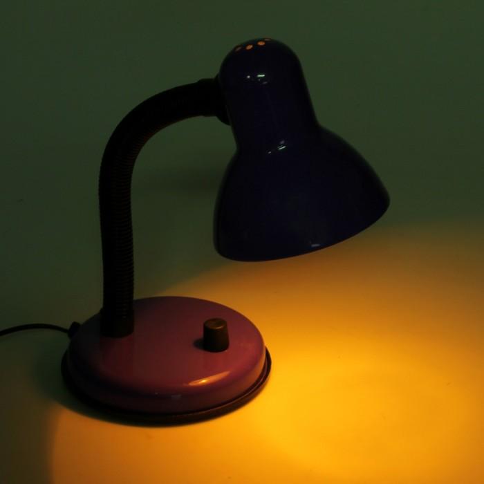 Настольная лампа, фиолетовая, диммер, Е27, 220V