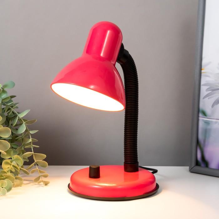 Настольная лампа с роликом, розовая