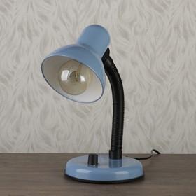 Лампа настольная Е27, светорегулятор (220В) голубая (203А)