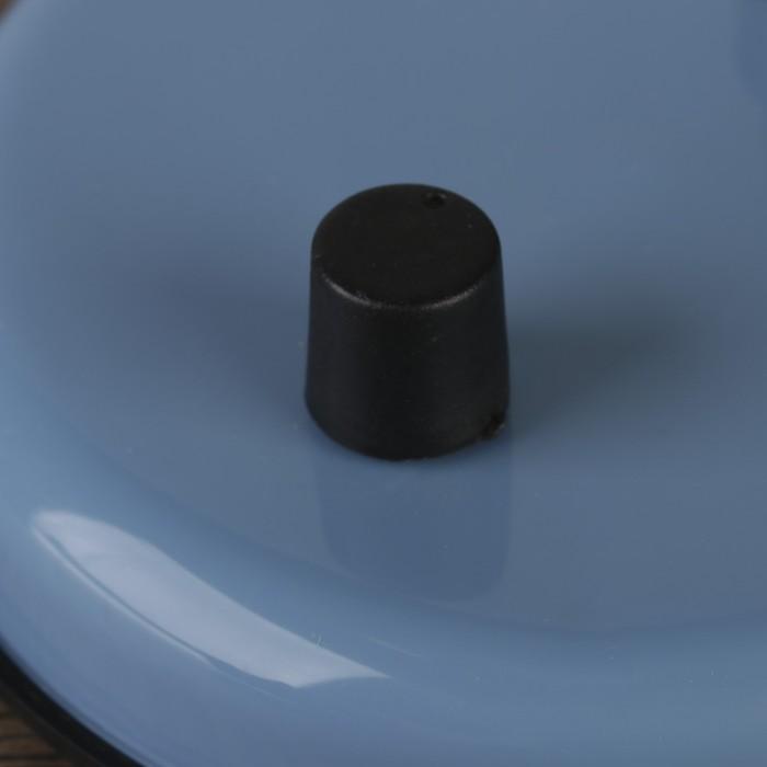 Настольная лампа с роликом, голубая