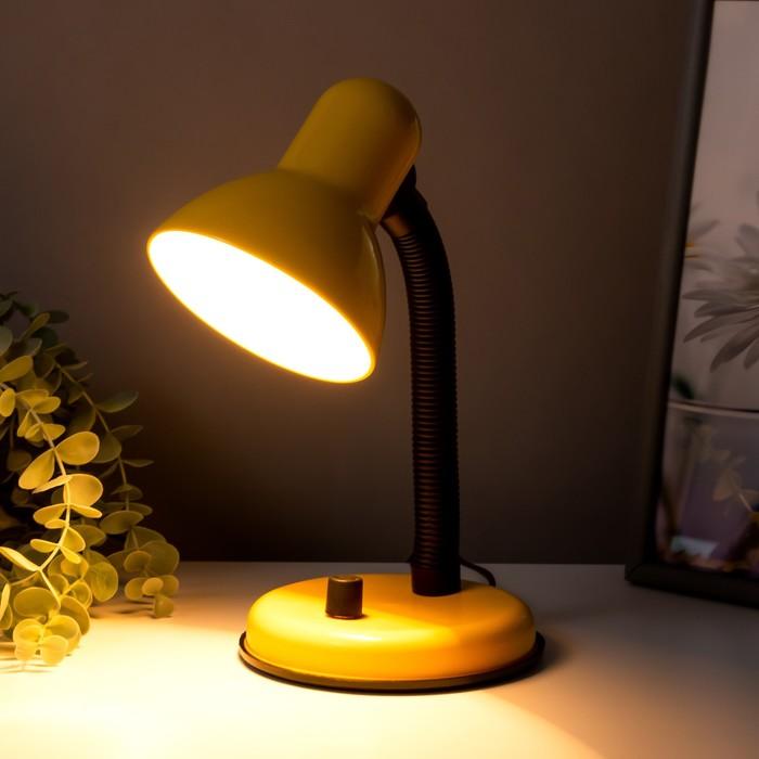 Настольная лампа с роликом, желтая