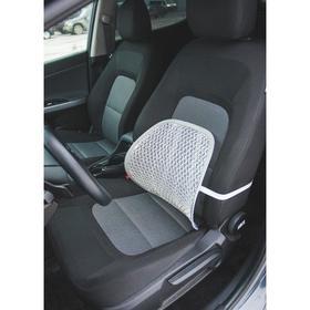 Orthopedic back pillow elastic on the seat 38 x 39 cm grey