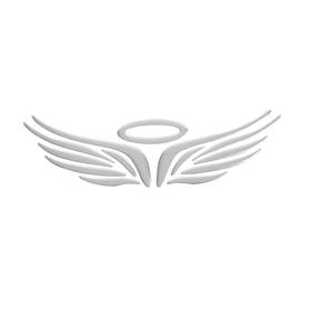 """Наклейка на автомобиль DA-303-05 """"Ангел"""", серебристая"""