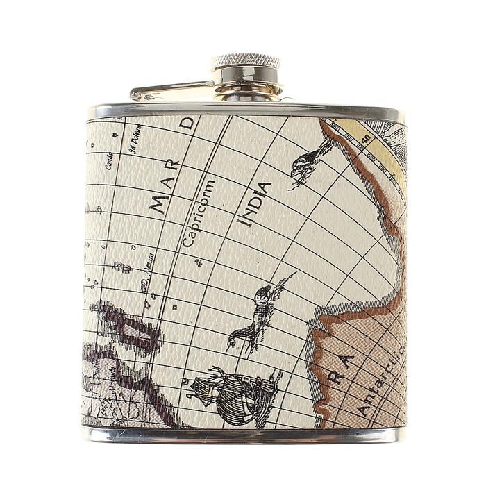 Фляжка 180 мл, карта мира