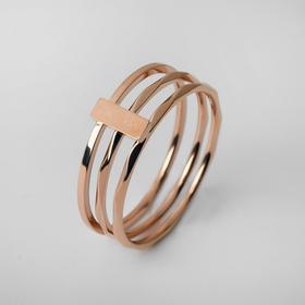 """Кольцо """"Тринити"""" размер 19, цвет золото"""