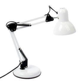 Лампа настольная Е27, на шарнирной подставке (220В) белая (811)