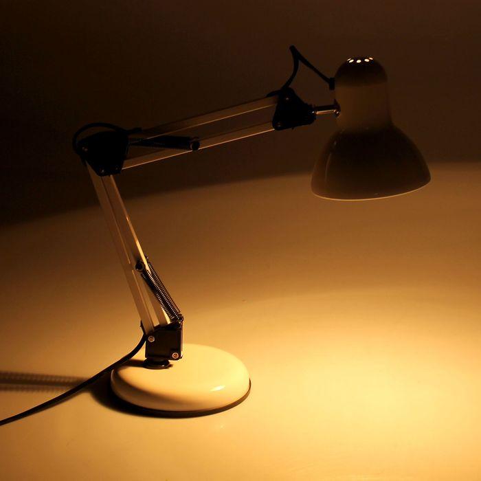 Настольная лампа на подставке, 55 см, белая