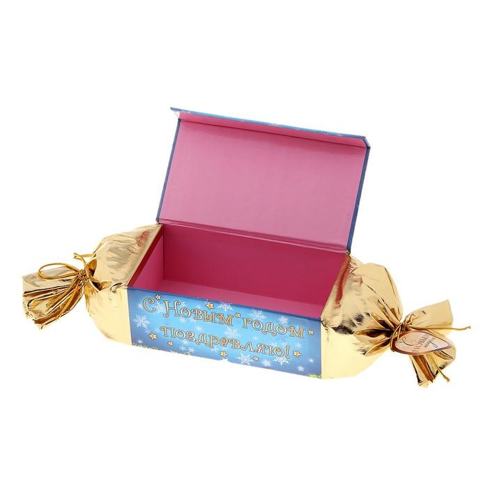 """Подарочная коробка-конфета"""" С новым годом"""""""