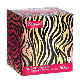 Салфетки «Premial» косметические 3-слойные в коробке Нон стоп, 50 шт МИКС
