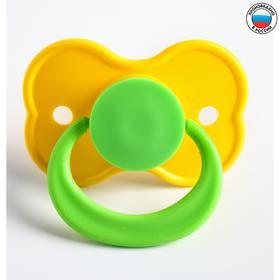 Пустышка латексная классическая «Бабочка» с кольцом, от 0 мес., цвета МИКС