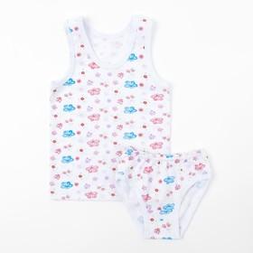 Комплект для девочки (майка, трусы), цвет МИКС, рост 98-104 см