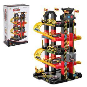 Игровой набор «Мегапарковка», с 10 машинками и электрическим лифтом, работает от батареек