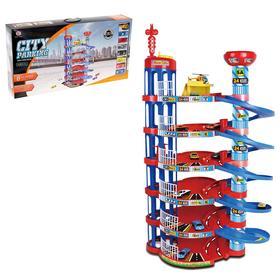 Игровой набор «Мегапарковка», 7 машинок и вертолет