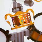 Барабанная установка «Универсальный музыкант», с синтезатором, микрофоном и стульчиком - фото 106985168