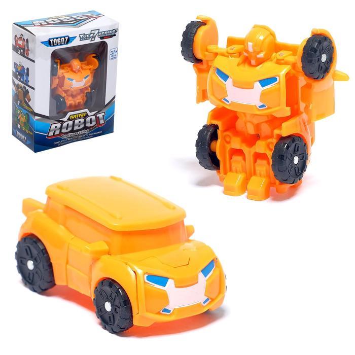 Робот «Автобот», трансформируется, цвет оранжевый - фото 1174968