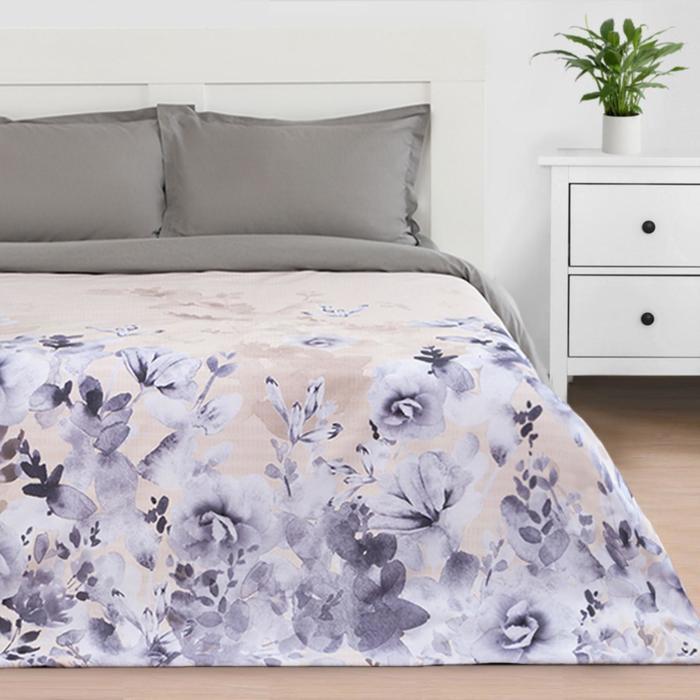 """Пододеяльник """"Этель"""" Акварельные цветы, 200*215 см, 100% хлопок, мако-сатин - фото 785146"""