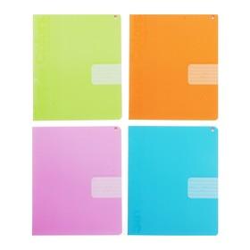 Тетрадь 18 листов в клетку «Простые цвета», обложка мелованный картон, выборочный лак, МИКС