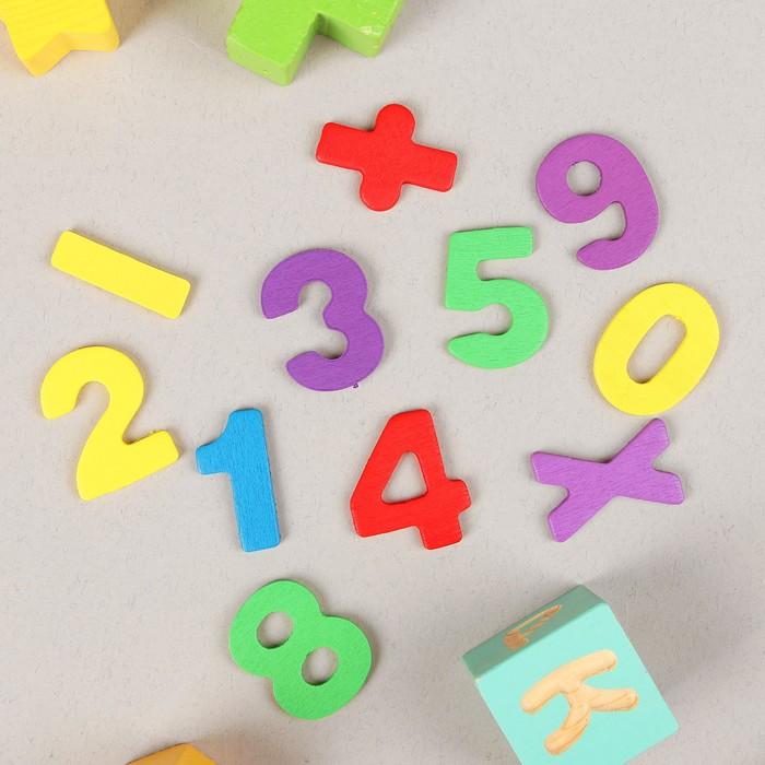 "Счётный материал ""Палочки, цифры и знаки"", 72 элемента"