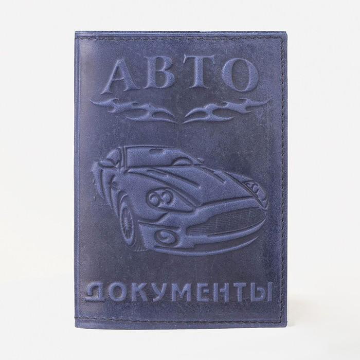 Обложка для автодокументов, цвет синий