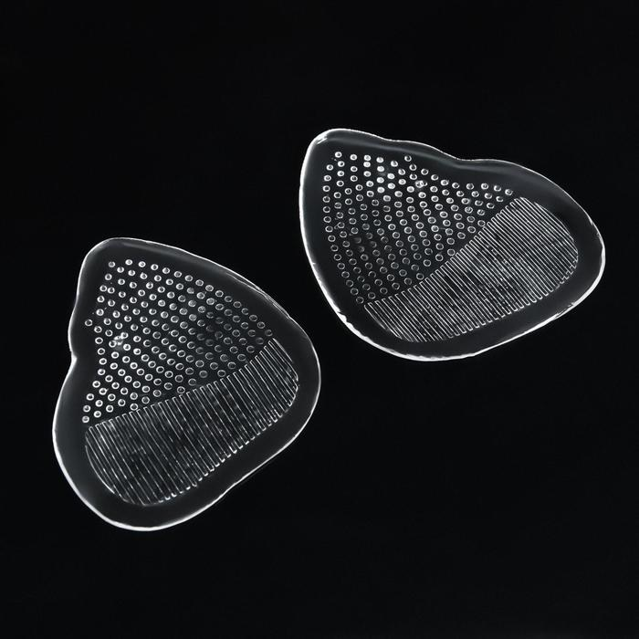 Полустельки для обуви, силиконовые, с протектором, пара, 9 х 7см