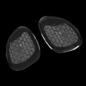 Полустельки для обуви, силиконовые, клеевая основа, с протектором, 8 × 6,5 см, пара, цвет прозрачный