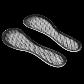 Стельки для обуви, универсальные, массажные, силиконовые, 36-41 р-р, пара, цвет прозрачный