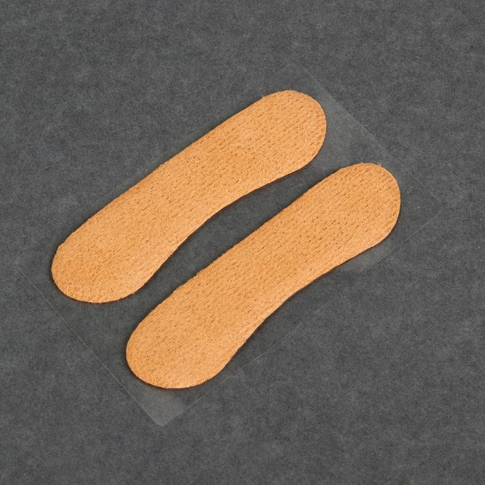 Пяткоудерживатели для обуви, пара, 10 х 2,5см, цвет бежевый
