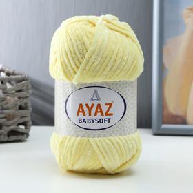 "Пряжа ""Baby Soft"" 100% полиэстер 100м/100гр (1215 св. жёлтый)"