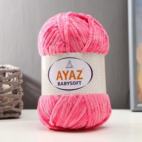 "Пряжа ""Baby Soft"" 100% полиэстер 100м/100гр (1229 розовый)"