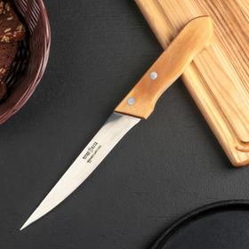 Нож кухонный «Ретро» для мяса, лезвие 16 см, с деревянной ручкой