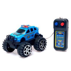 """Джип """"Полиция"""", на дистанционном управлении, работает от батареек, МИКС"""