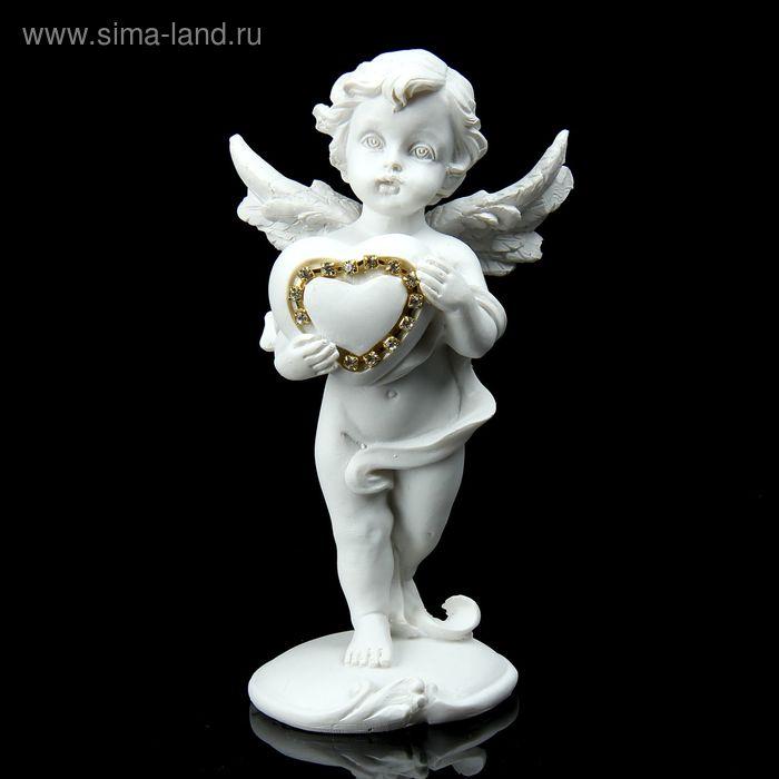 """Сувенир """"Ангелок с сердечком из страз"""""""