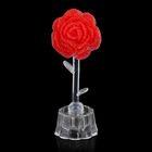 """Сувенир """"Розы из страз алая"""" световой"""