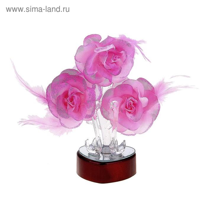 """Сувенир """"Лебеди под розами"""" свет"""