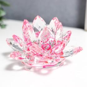 """Сувенир стекло """"Лотос радуга турмалин"""" d-8,5 см"""