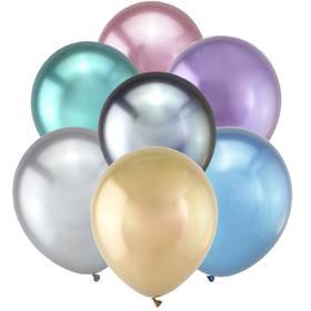 """Шар латексный 5"""" «Зеркальные шары», водные бомбочки, хром, набор 50 шт., МИКС"""