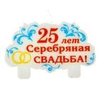 """Свеча в торт """"25 лет Серебряная свадьба"""""""