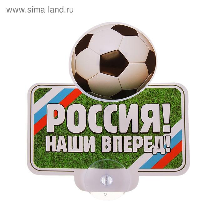 """Табличка на присоске """"Россия!"""""""