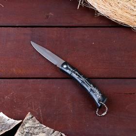 Нож складной без фиксатора, рукоять черная, бамбук в Донецке