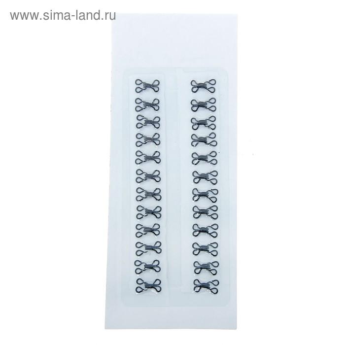 Крючки одежные № 0, 24 шт, цвет черный
