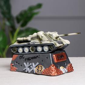 """Копилка """"Танк СУ-100"""", разноцветный, 14 см, микс"""
