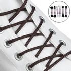 Набор шнурков для обуви, 6 пар, круглые, d = 5 мм, 110 см, цвет МИКС