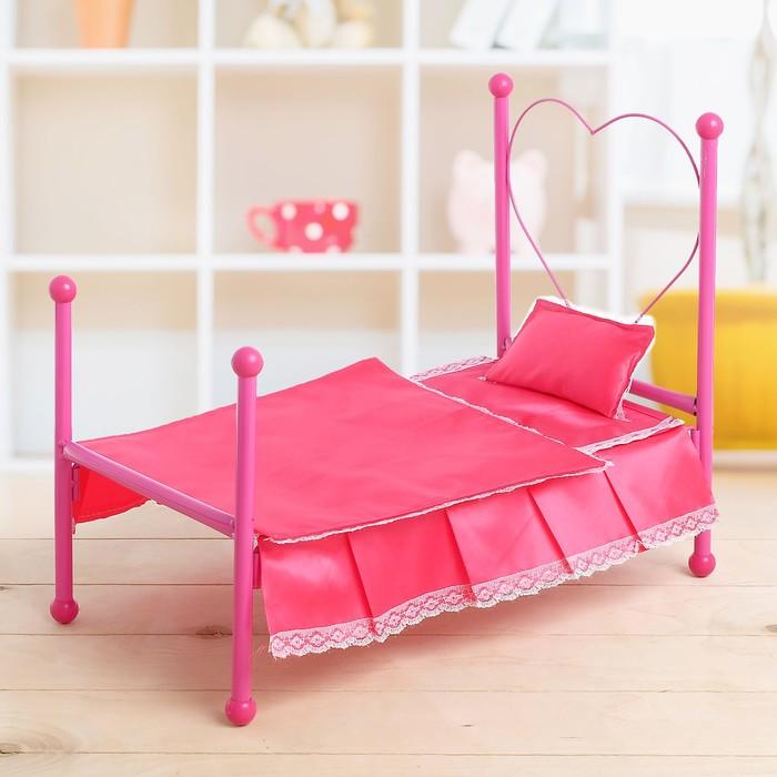 Кроватка для кукол с подушкой
