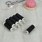 Нитки швейные синтетические № 40, 10шт, 36(±1)м, цвет чёрный