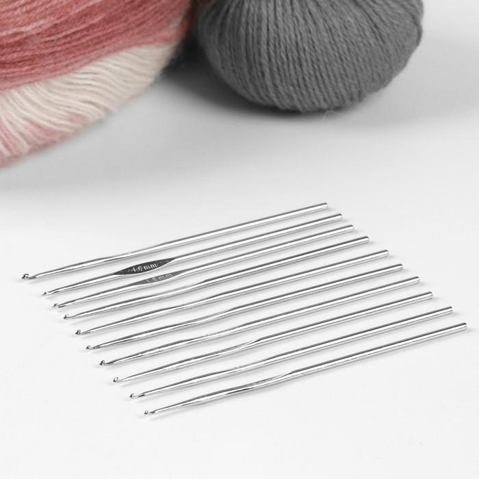 Набор крючков для вязания, d = 1-1,9 мм, 13,5 см, 10 шт