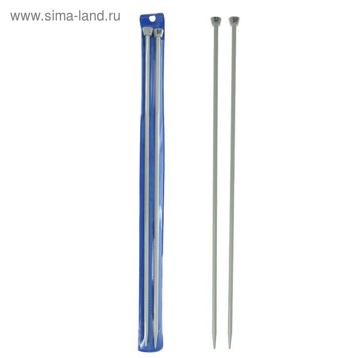 Спицы для вязания прямые, d=5мм, 35см, 2шт