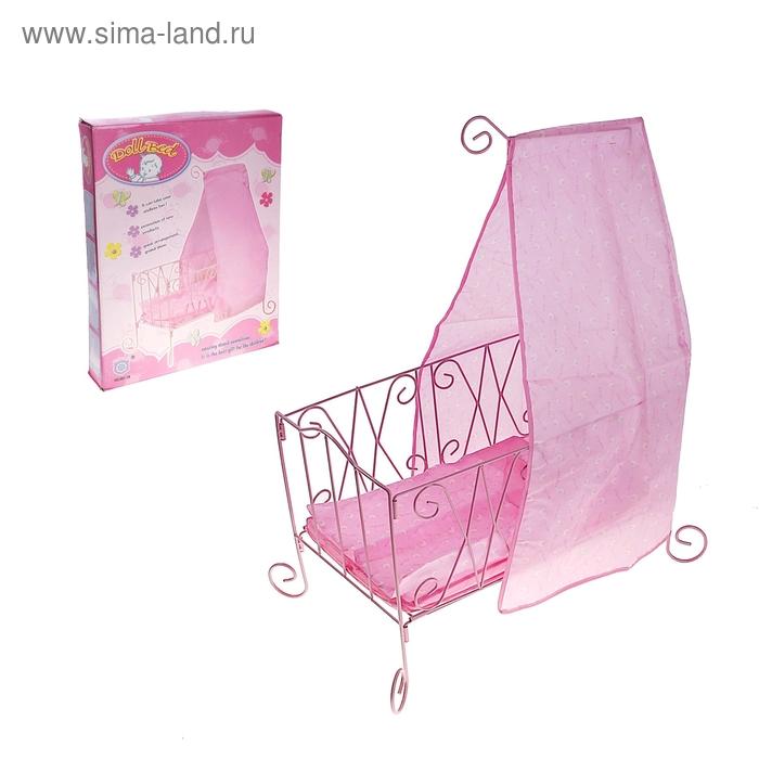 Кровать для кукол ажурная №881-18