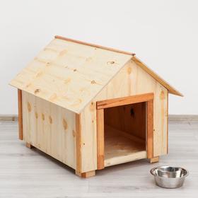 Будка для собак деревянная, крыша домик, 79 х 70 х 62 см