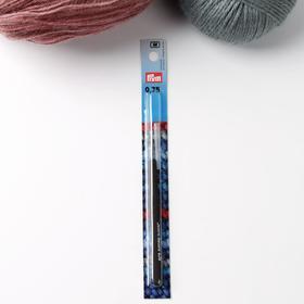Крючок для вязания, для тонкой пряжи, с колпачком, d = 0,75 мм, 12,5 см