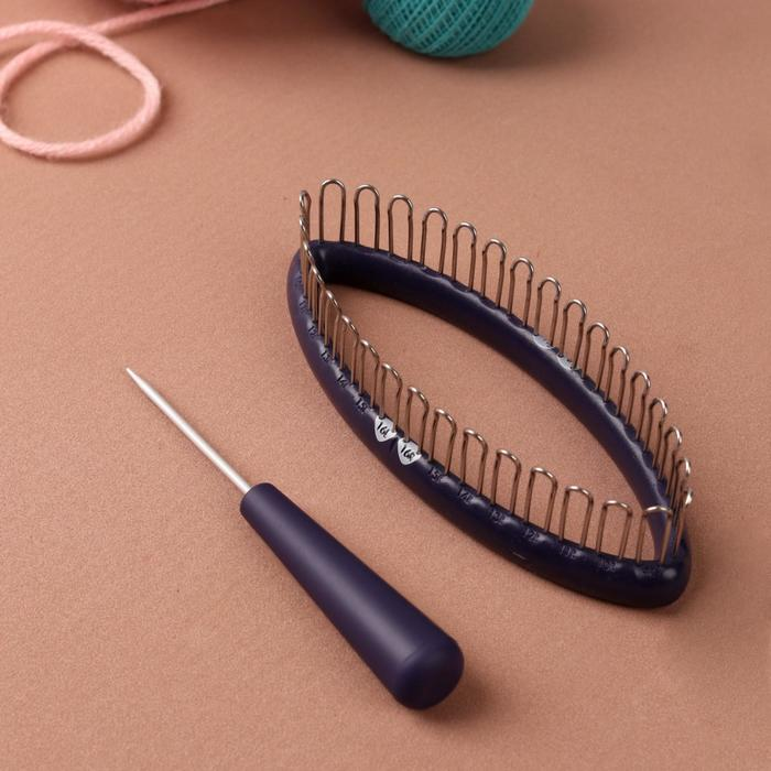 Станок для вязания носков, с иглой, цвет фиолетовый - фото 7389287
